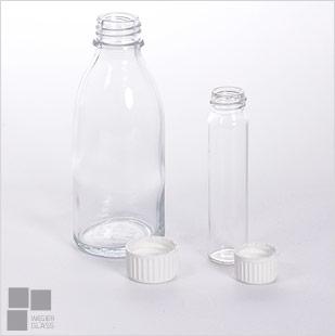 butelki; szkło dmuchane; szkło ehv; medyczne; ampułki; gumowe zamknięcie;