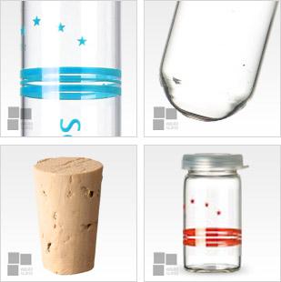 Probówki, szklane, kołnież, buteleczki, zapachów, zapachy, opakowania, tabletki, płaskie dno, z gwintem, rurki, szklane, sitodruk, na szkle, wirówki